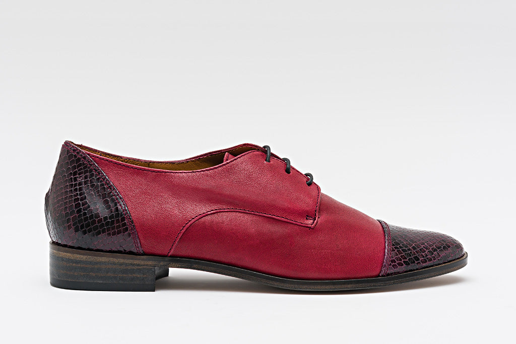 RENE Oxblood & Sanke Cap Toe Brogue