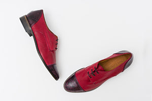 Zapatos brogue RENE Oxblood & Sanke