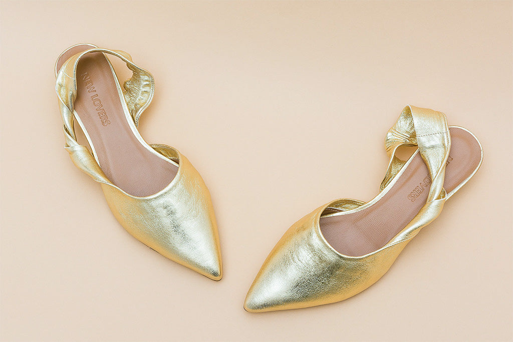 SUSSIE Gold Slingback Shoes