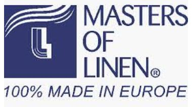 masters of linen logo serviette table lin decoration éthique made in France sérigraphie environnement renaissance creation