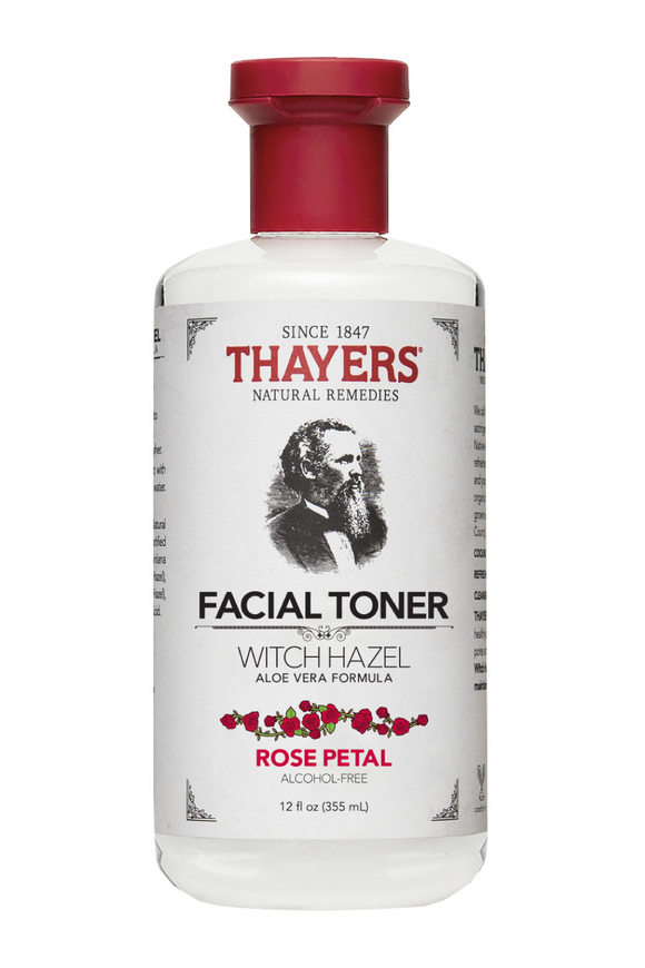Rose Petal Witch Hazel Aloe Vera Alcohol Free Toner