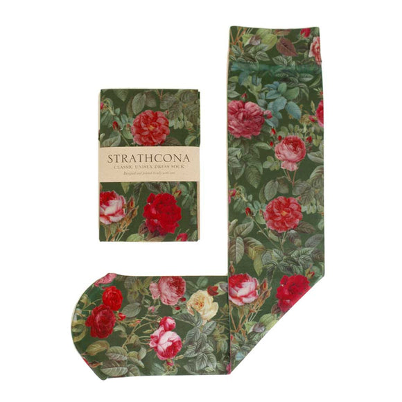 Hunter Green Garden Dress Socks