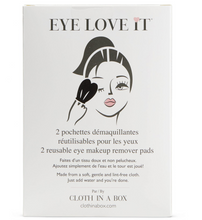 Load image into Gallery viewer, DAMAGED -  EYE LOVE IT Reusable Make Up Remover Pads