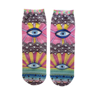 Magic Eye Sparkle Shorty Sock