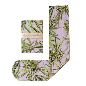 Purple Weed Dress Socks