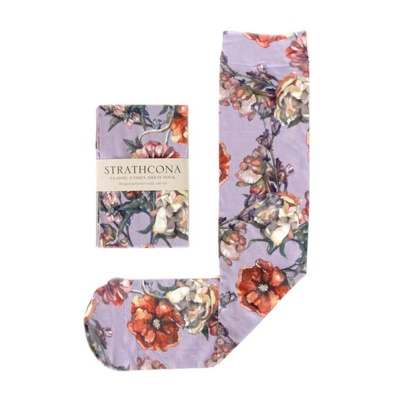 Lilac Watercolour Bouquet Unisex Dress Socks