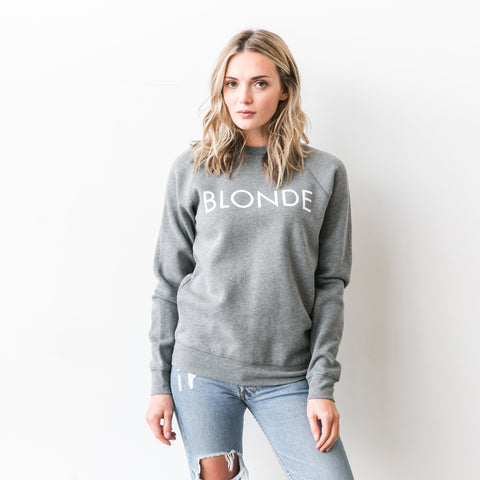 Blonde Crew Sweatshirt in Grey