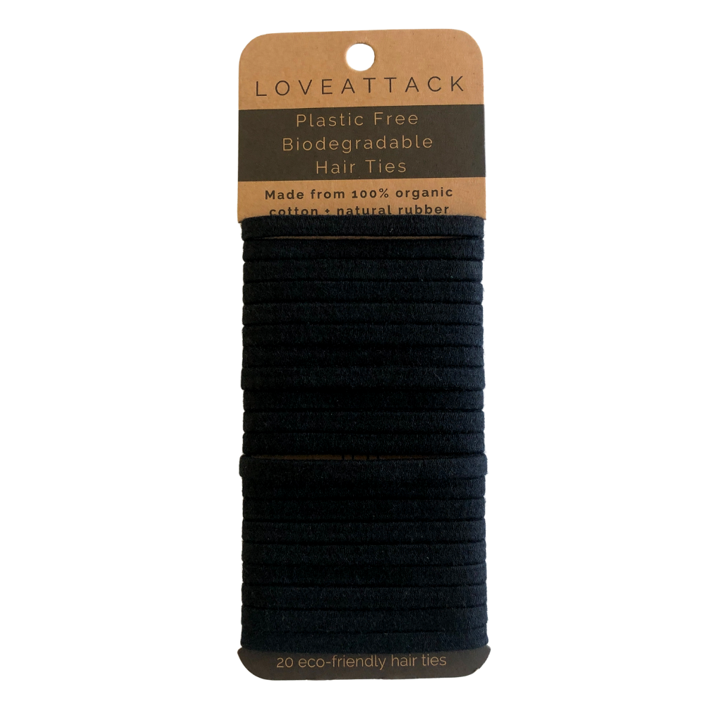Plastic Free Biodegradable Hair Ties - Black