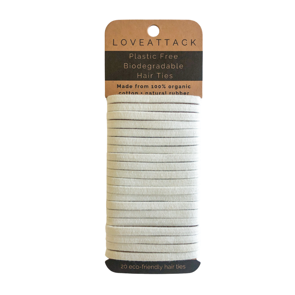Plastic Free Biodegradable Hair Ties - White