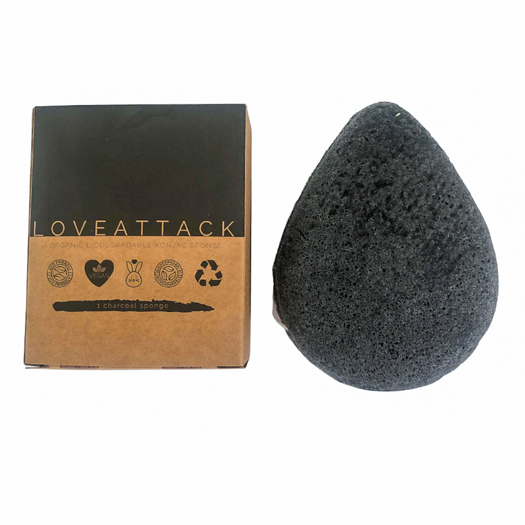 Organic Biodegradable Charcoal Konjac Sponge