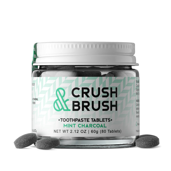 Crush + Brush Tablets - Mint Charcoal