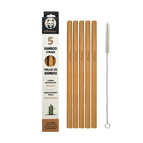 Bamboo Straws - Pack of 5
