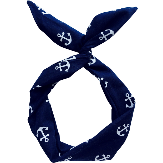 Navy with White Anchors
