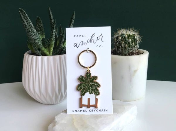 Paper Anchor Co - Fiddle Leaf Fig Keychain