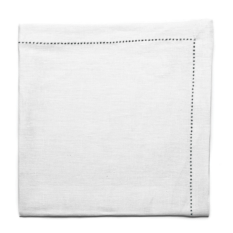 Pure Large Napkin with Button Stitch - Soft White