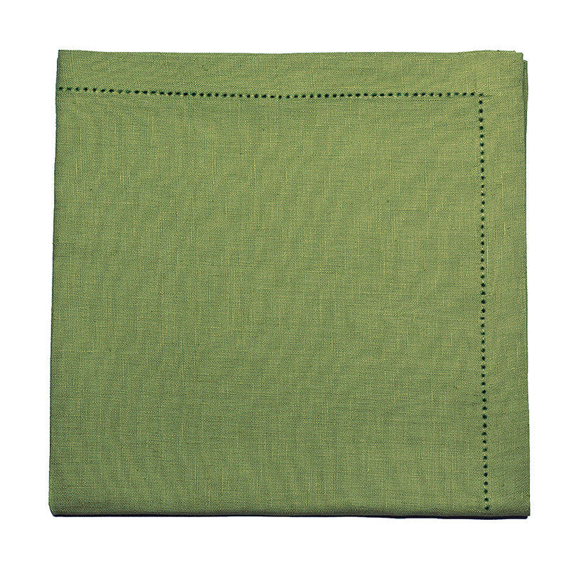 Pure Large Napkin with Button Stitch - Meadow Green