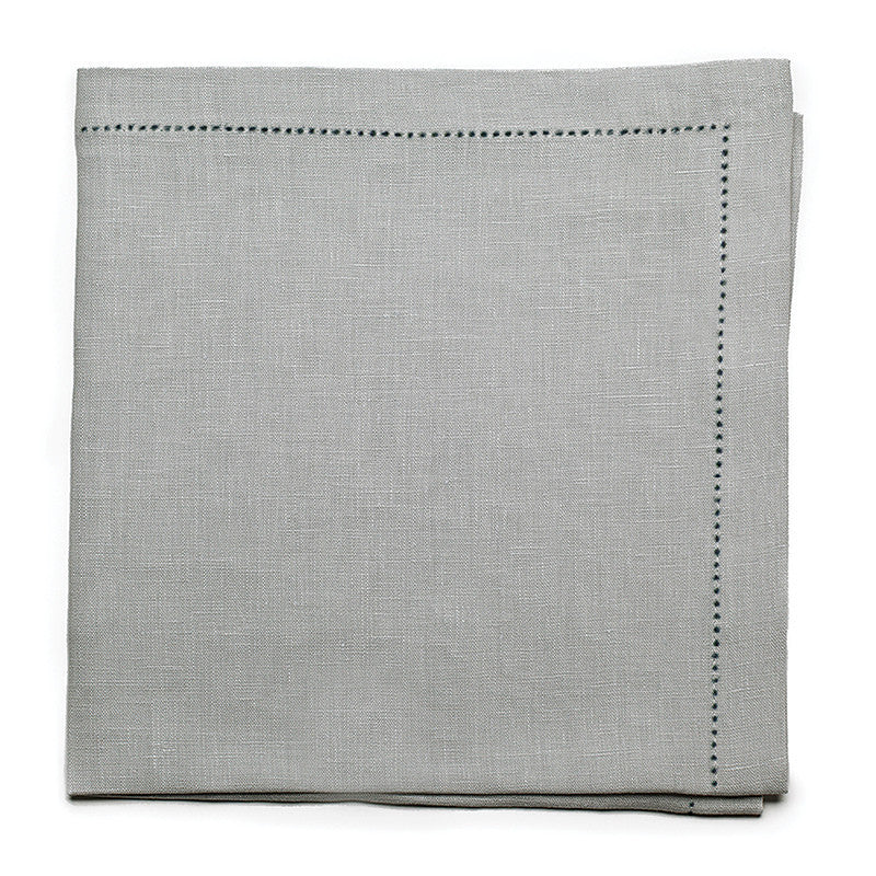 Pure Large Napkin with Button Stitch - Cloud Gray