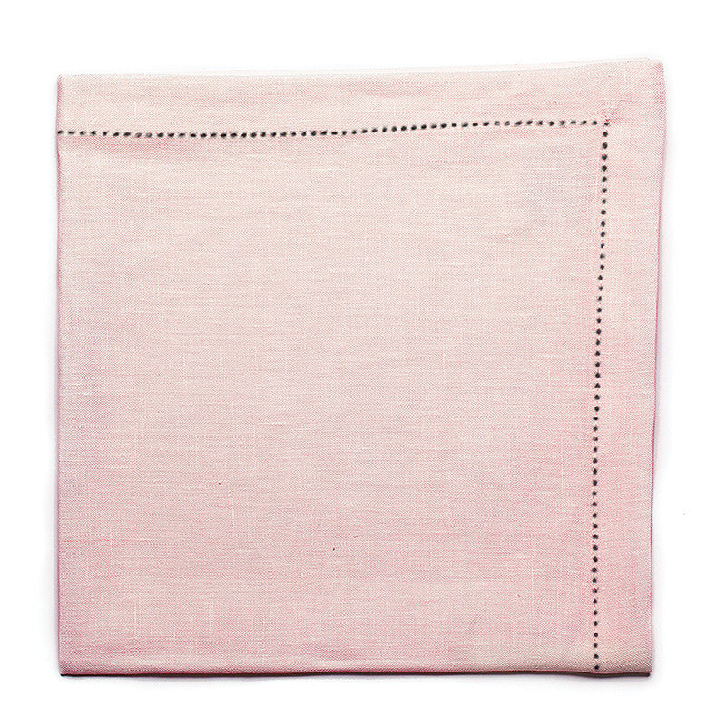 Pure Large Napkin with Button Stitch - Antique Rose