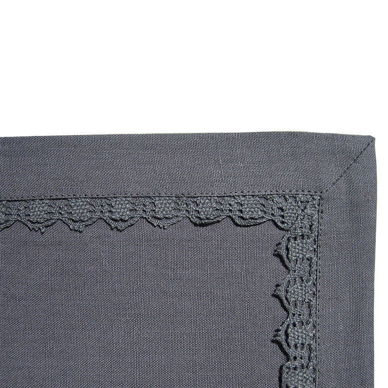 Placemat - Lace Border - Slate Gray
