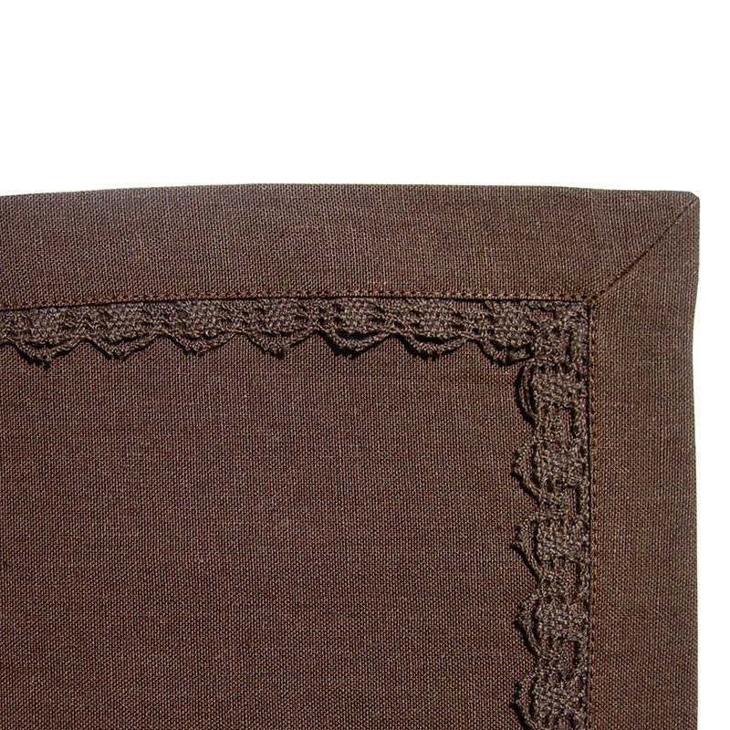Placemat - Lace Border - Deep Brown
