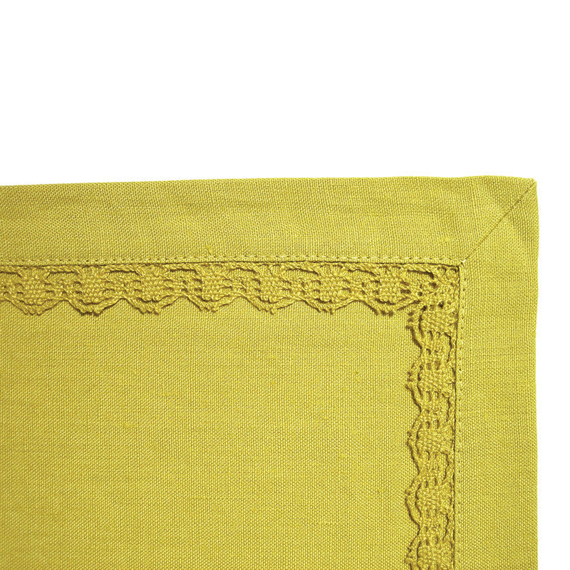 Placemat - Lace Border - Green