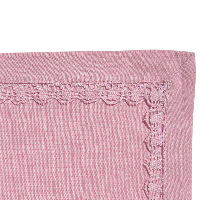 Placemat - Lace Border - Antique Rose