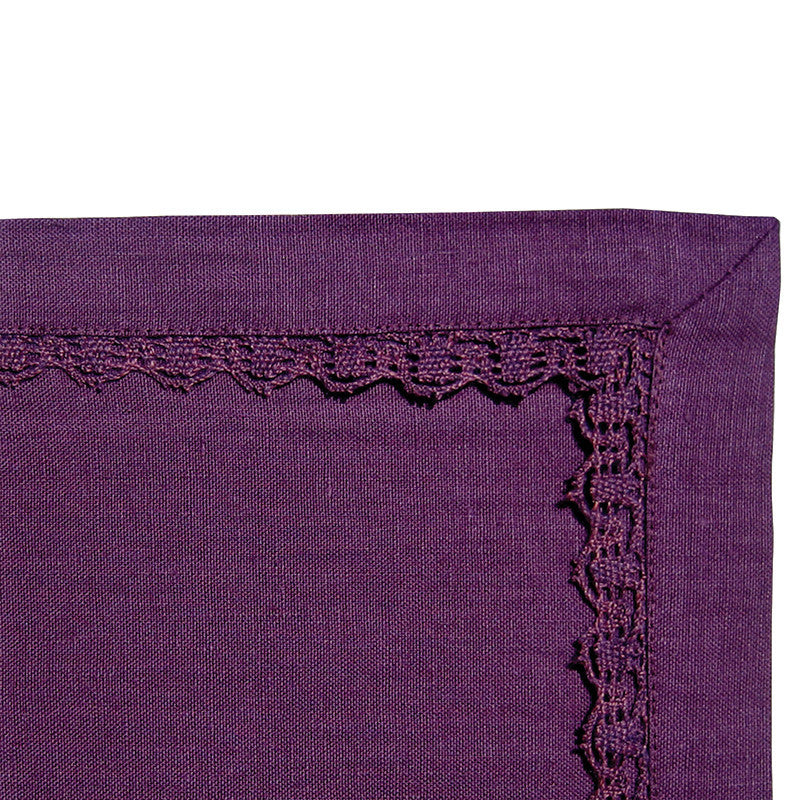 Placemat - Lace Border - Rich Purple