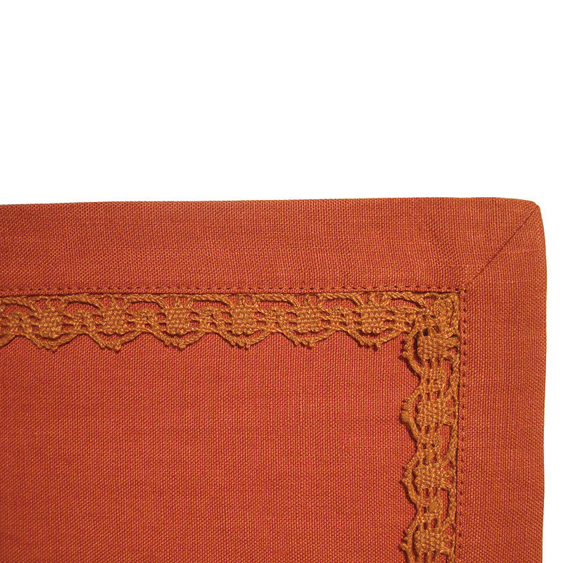 Placemat - Lace Border - Country Orange