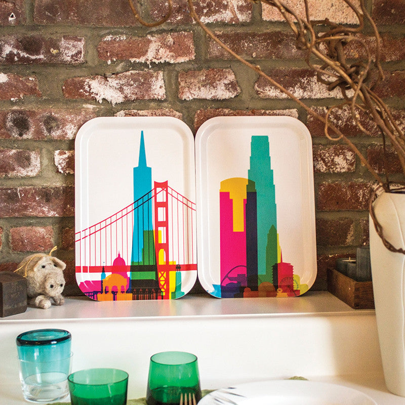 Cocktail Tray (Small), City Shapes - Los Angeles | Teroforma
