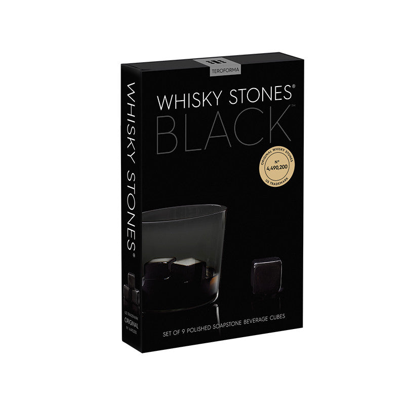 Whisky Stones® BLACK (Set of 9) Box | Teroforma