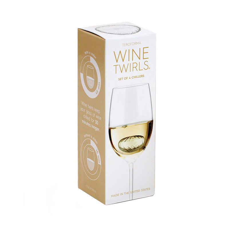 Wine Twirls® Wine Chillers (Set of 4) Box | Teroforma