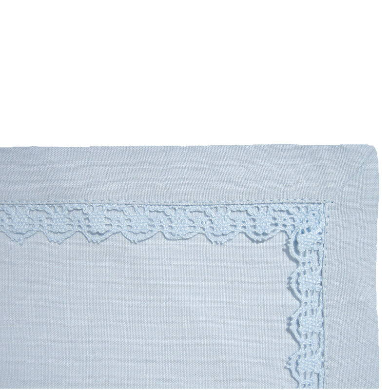 Placemat - Lace Border - Light Blue