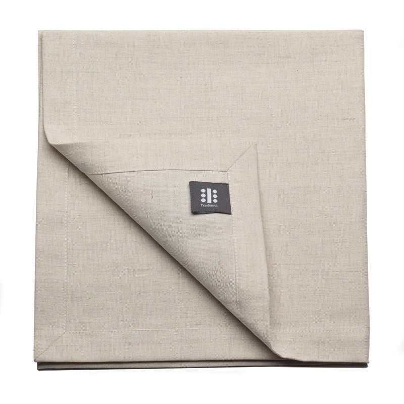 Blended Linen Large Napkin - Soft White