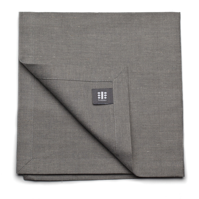 Blended Linen Large Napkin - Slate Gray