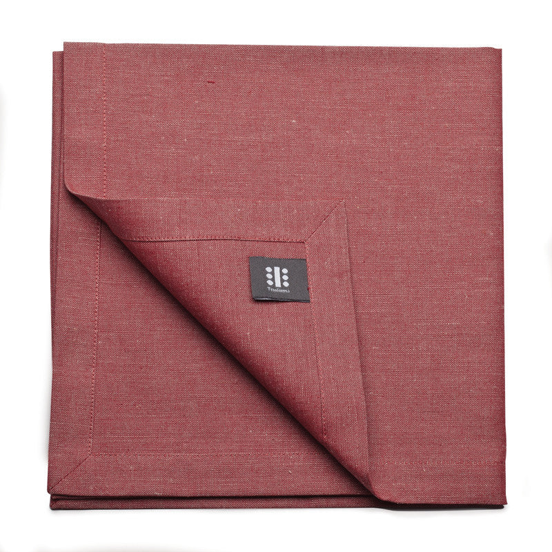 Blended Linen Large Napkin - Pure Red