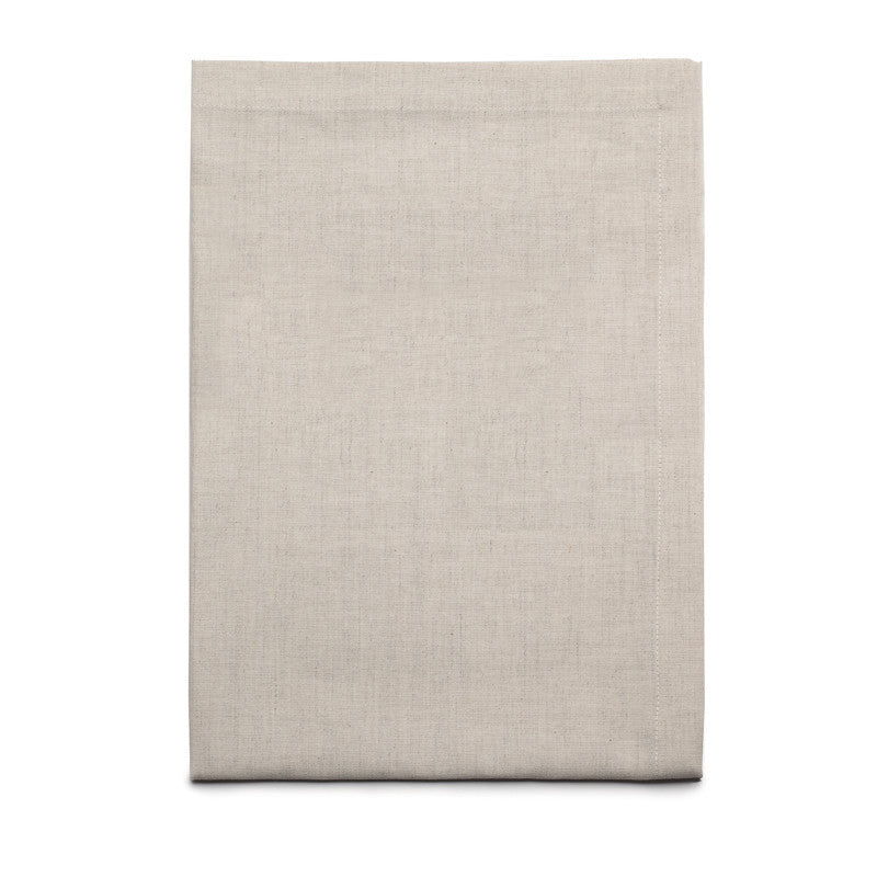 Blended Linen Cross Runner - Soft White