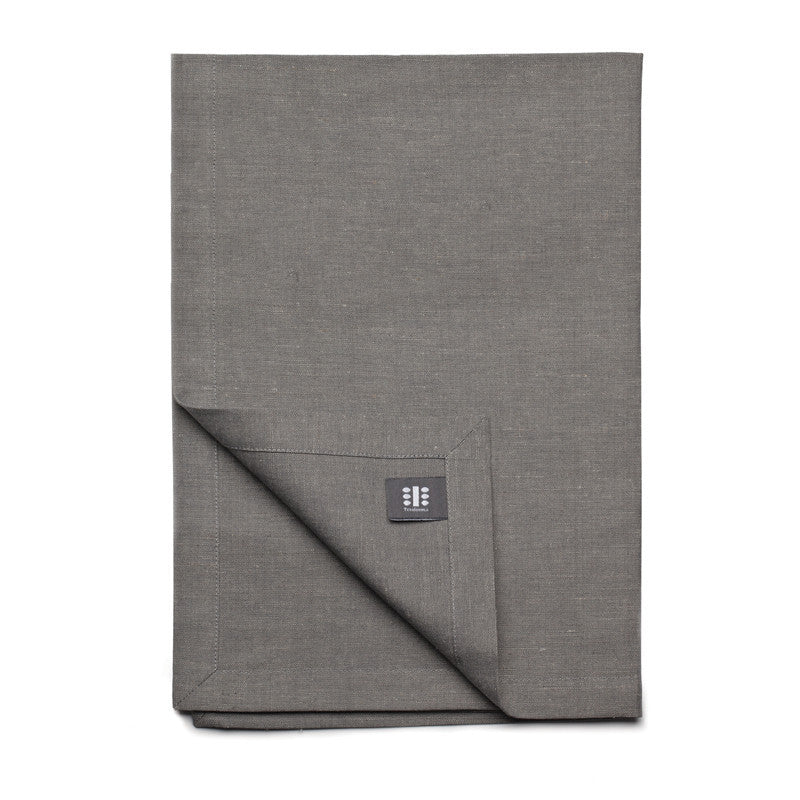 Blended Linen Cross Runner - Slate Gray