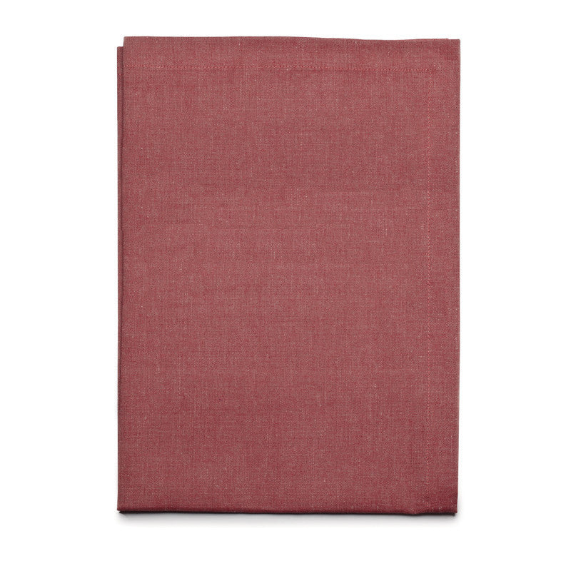 Blended Linen Cross Runner - Pure Red