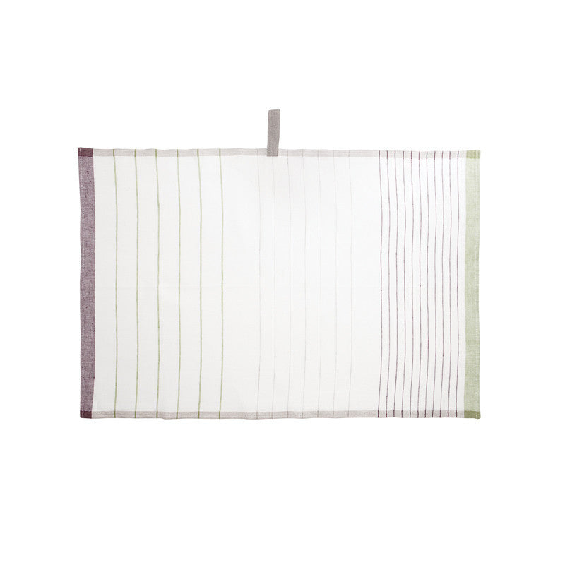 Pastry Stripe Kitchen Towels - Grape Red & Green Grape  | Teroforma