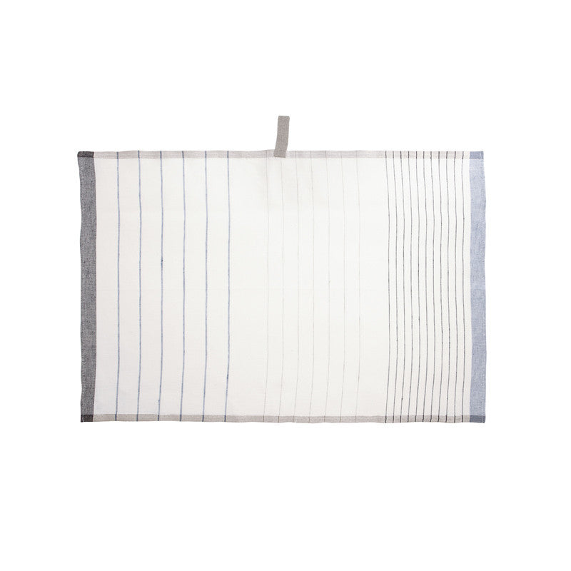 Pastry Stripe Kitchen Towels - Navy & Glacier  | Teroforma