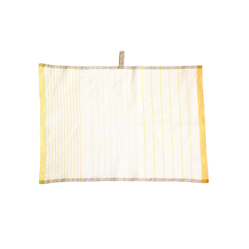 Pastry Stripe Kitchen Towels- Lemon & Marigold Yellow  | Teroforma