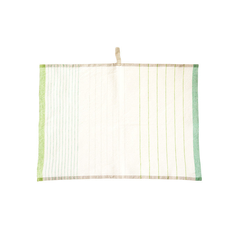 Pastry Stripe Kitchen Towels - Apple & Meadow Green  | Teroforma