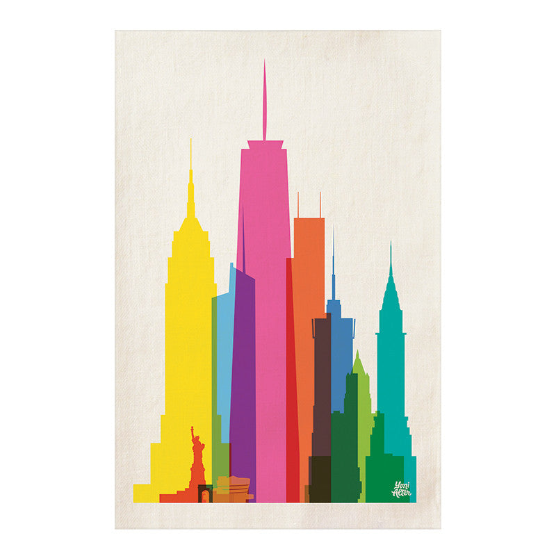 Tea Towel, City Shapes - New York City