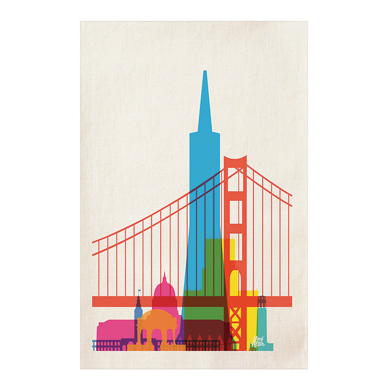 Tea Towel, City Shapes - San Francisco