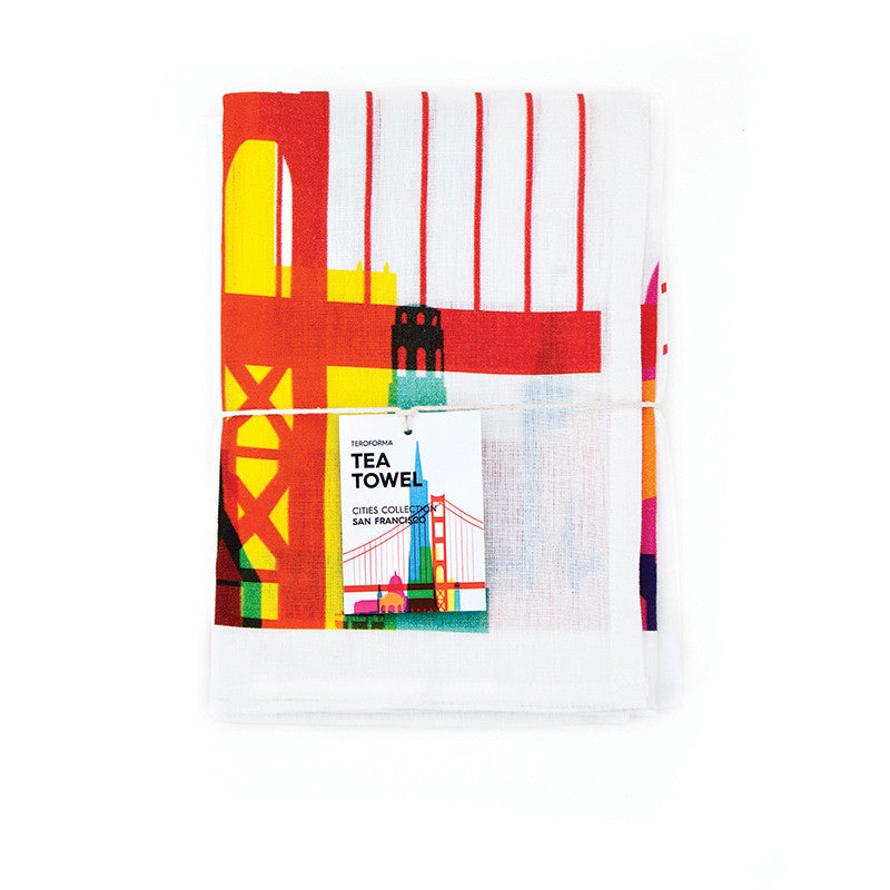 Tea Towel, City Shapes  | Teroforma