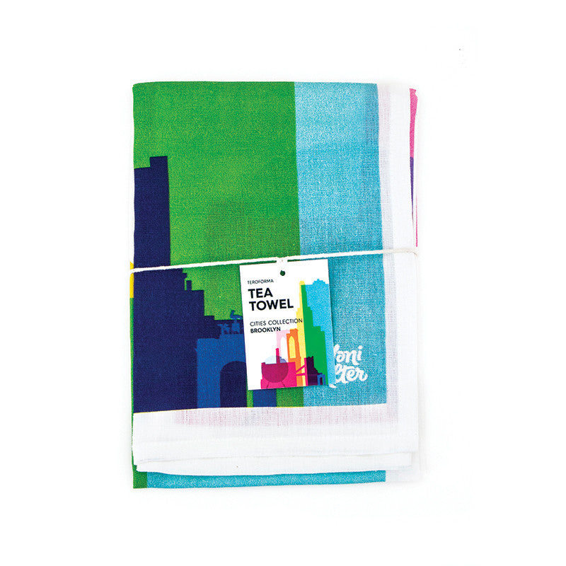 Tea Towel, City Shapes - Brooklyn  | Teroforma