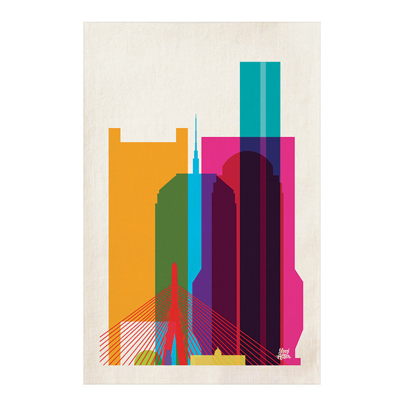 Tea Towel, City Shapes - Boston  | Teroforma