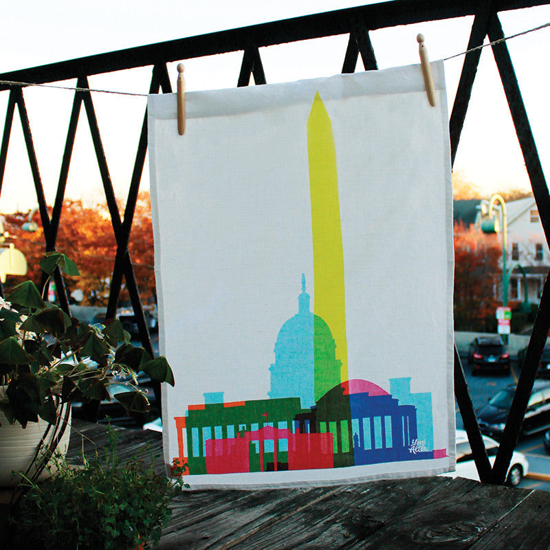 Tea Towel, City Shapes - Washington DC  | Teroforma