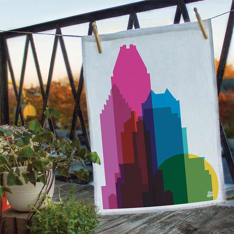 Tea Towel, City Shapes - Montreal  | Teroforma