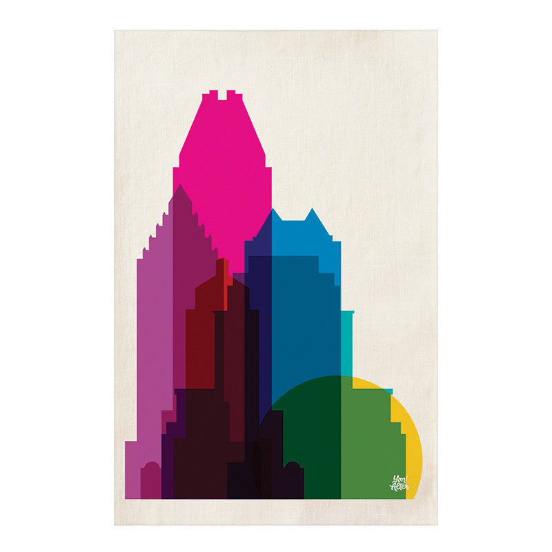 Tea Towel, City Shapes - Montreal
